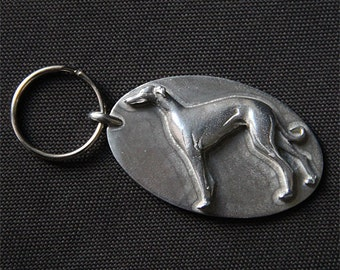 Greyhound Keychain - Whippet Keychain - Sighthound Galgo Key Ring