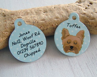 Dog Tag - Personalised Dog ID Tag- Dog Name Tags - Dog Collar Tag - SMALL 25mm