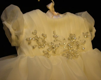 Jennifer C's Custom Christening or Baptism Gown made to order from your Wedding Dress