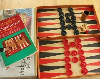 Vintage Cardinal Backgammon Teacher Game. No. 131., Vintage backgammon set, vintage backgammon set