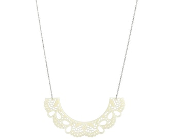 Perspex Lace Collar Necklace