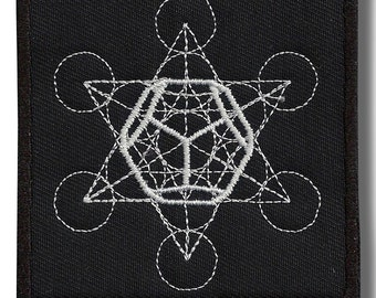 Metatron variation 3, sacred geometry - embroidered patch, BUY3 GET4, 3,2 X 3,2 INCH