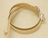 Ivory dog Leash, Pet accessory, Ivory Leather leash,  Dog Lovers, Dog Leash, Ivory wedding dog accessory, Custom leash