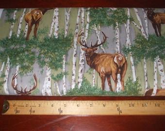Elk standing in the Birch tree woods Fat quarter of fabric