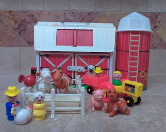 Vintage Fisher Price Little People Play Family Farm