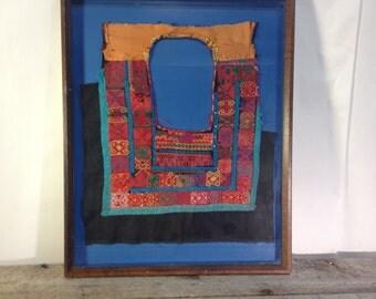 Antique Framed Textile Art