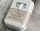 Soap Sampler Box - All natural mini soap bars, travel soap, guest soap
