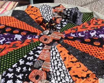 Happy Halloween/LazyDaisy round topper/Variety fabrics
