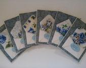RESERVED FOR ERIN Custom Order 7 Vintage Wedding Hankie Cards