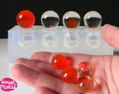 15 mm Multi Sphere Clear Mold,4 cavities  15 mm spheres mold ,shiny surface transparent mold-House Of Molds
