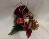 Burgandy Christmas Princess Hat/Coat Brooch