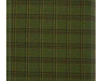 Better at the Lake Yarn Dye Plaid Green Fabric by One S1ster Designs