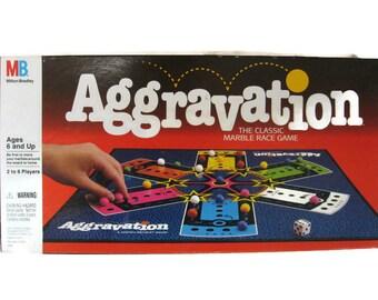Vintage Aggravation Board Game, Milton Bradley 1989