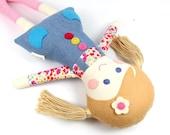first doll   camille cloth doll   handmade rag doll   keepsake rag doll   girl doll