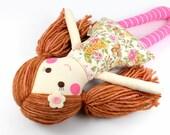 doll with yarn hair | handmade rag doll | camille cloth doll | first doll | keepsake rag doll | girl doll