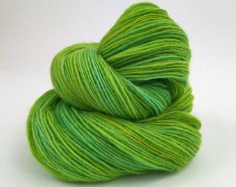 Sour Apple Handspun Single Ply Polwarth Yarn