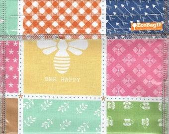 CLEARANCE EcoBagIt! CHOOSE HAPPY xl - Keep Fresh Reusable Sandwich Bag