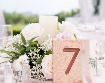 Wood Table Numbers, Wedding Table Numbers, Wedding Signs, Table Center Piece
