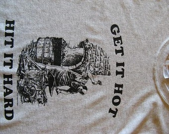 BLACKSMITH SHIRT  Get it Hot Hit it Hard....Blacksmith at Anvil and Forge