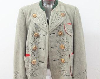 1940s Lederhosen Oktoberfest Lodenfrey Bavarian Hunting Jacket