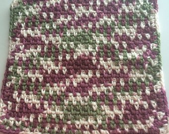 Buy 3 get 1 free. Purple White Green  Dish cloth/Wash cloth- Clearance priced