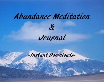 Abundance Guided Meditation, Self Love, Stress Relief, Instant Download on Mp3 Player, Financial Planner Root Chakra, Meditation Tools