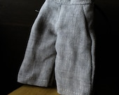Blythe Doll Outfit /  1/6 doll size /  cropped pants/graphite