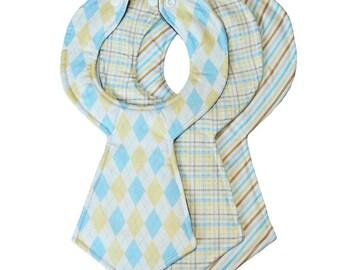 Newborn Baby Necktie Bib Set of 3