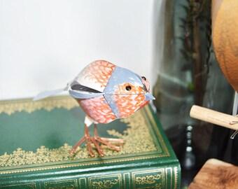 Chaffinch bird statue, sculpture, British bird art