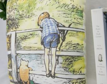 Winnie the Pooh Pillow | Winnie the Pooh Nursery | Pooh Sticks Bridge | Classic Nursery Decor | Winnie the Pooh Gift
