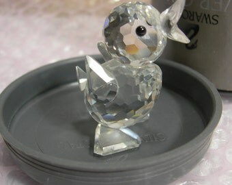 Silver Crystal Swarovski Mini Duck Marked Boxed 7660nr 40