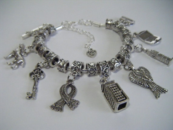 superwholock charm bracelet supernatural dr who sherlock