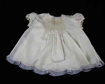Feltman Bros. Infant Girls Yellow 2 pc Gown and Slip, Made in the Philippines, Hand Embroidered