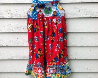 Made to Order - Paw Patrol Dress, Knot Dress, Birthday Outfit, Girls Dress, Paw Patrol, Toddler Dress