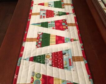 Christmas tree table runner