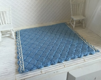 Dollhouse Blue Rug - Free Shipping to the US