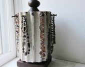Spinning Necklace Holder Display - Recycled Architectural Salvage Column- Chippy White Paint - Ready to Ship