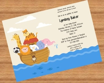 Noah's Ark Baby Shower - Digital File - Print as many as you need!