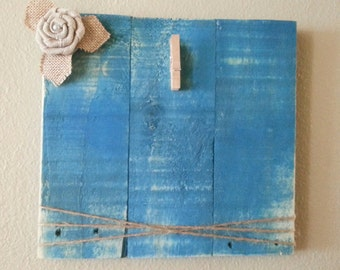 "Distressed Wood 4""x6"" Picture Frame Blue"