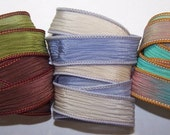 3 Pack Special Sale/Silk Ribbons/Hand Dyed/Wrist Wraps/Sassy Silks/Ready to Ship/ See Description for Details/101-0419