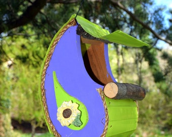 Bird Feeder, New Item, For the Birds, Garden Art, sun flower, paisley bird feeder in color options