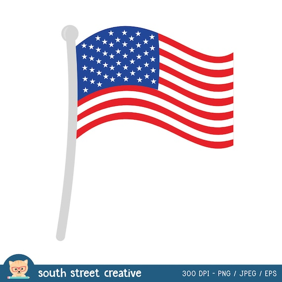 American Flag, 4th of July, Cute Clipart, Personal & Small ...