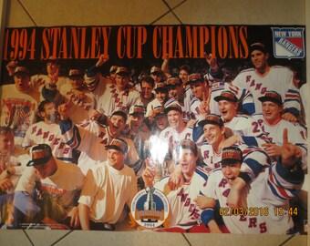 1994 STANLEY CUP  Champs Rangers Vjntage Poster