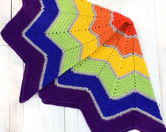 Blanket - Rainbow Blanket - Rainbow Baby - Rainbow - Photo Prop - Nursery Decor - Evangeline