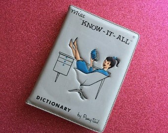Miss Know-It-All Vintage Dictionary by Ponytail
