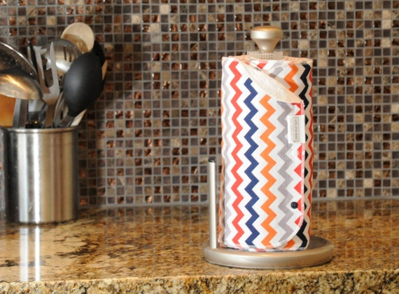 CHOOSE PRINT Unpaper Towels - Kitchen - Snapping Unpaper - Reusable Paper Roll - Paperless - Optional Snaps - Terry - Cotton - 6 or 12 Set