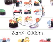 1 Roll of Limited Edition Washi Tape: Sushi Cat