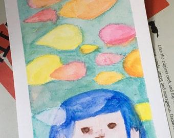 Original Watercolor Painting/ Illustration- My Tear Won't drop