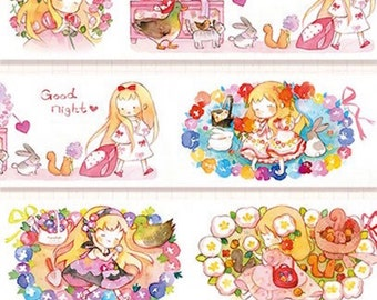 1 Roll of Limited Edition Washi Tape: Sleeping Beauty