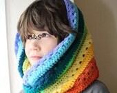 Twisted Rainbow Cowl- Child-Adult